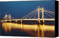 Albert Bridge Canvas Prints - Albert Bridge Canvas Print by Richard James Taylor