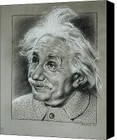 Theory Of Relativity Canvas Prints - Albert Einstein Canvas Print by Anastasis  Anastasi