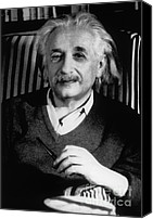 Theory Of Relativity Canvas Prints - Albert Einstein, German-american Canvas Print by Science Source