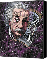 Theory Of Relativity Canvas Prints - Albert Einstein, German Physicist Canvas Print by Bill Sanderson