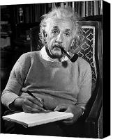 Writing Canvas Prints - Albert Einstein Canvas Print by Granger