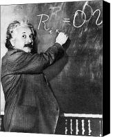 Genius Canvas Prints - Albert Einstein Canvas Print by Photo Researchers