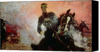 1875 Canvas Prints - Albert I King of the Belgians in the First World War Canvas Print by Ilya Efimovich Repin