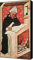 Portrait Woodblock Canvas Prints - Albertus Magnus, Medieval Philosopher Canvas Print by Photo Researchers