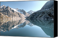 Mountain Scene Canvas Prints - Albigna Lake Canvas Print by by Thomas Gasienica