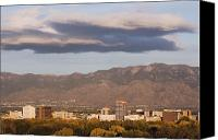 Albuquerque Canvas Prints - Albuquerque Skyline with the Sandia Mountains in the Background Canvas Print by Jeremy Woodhouse