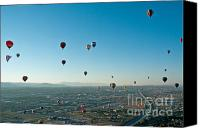 Balloon Fiesta Canvas Prints - Albuquerque View Canvas Print by Jim Chamberlain