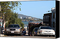 Hyde Street Pier Canvas Prints - Alcatraz Island Through The Hyde Street Pier in San Francisco California . 7D13973 Canvas Print by Wingsdomain Art and Photography