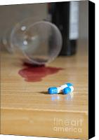 Spilled Wine Canvas Prints - Alcohol and drugs Canvas Print by Andre Babiak