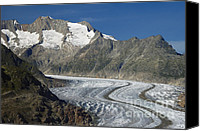 Alp Canvas Prints - Aletsch Glacier Switzerland Canvas Print by Matthias Hauser