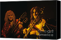 Rich Fuscia Canvas Prints - Alex Lifeson and Geddy Lee Canvas Print by Rich Fuscia