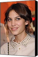 Updo Canvas Prints - Alexa Chung At Arrivals For Inglourious Canvas Print by Everett
