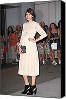 Cream Dress Canvas Prints - Alexa Chung At Arrivals For The Canvas Print by Everett