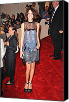 Metropolitan Museum Of Art Costume Institute Canvas Prints - Alexa Chung Wearing A Christopher Kane Canvas Print by Everett