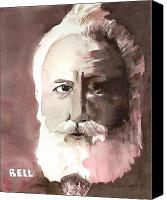 Inventors Canvas Prints - Alexander Graham Bell Canvas Print by Arline Wagner