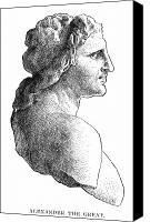 4th Canvas Prints - Alexander The Great (356-323 B.c.) Canvas Print by Granger