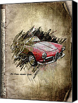 Transportation Mixed Media Canvas Prints - Alfa Romeo Canvas Print by Svetlana Sewell