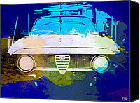 Racing Car Canvas Prints - Alfa Romeo watercolor Canvas Print by Irina  March