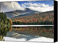 Autumn Foliage Canvas Prints - Algonquin Peak from Heart Lake - Adirondack Park - New York Canvas Print by Brendan Reals