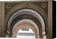 Old Wall Canvas Prints - Alhambra arches Canvas Print by Jane Rix