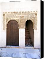 Old Wall Canvas Prints - Alhambra door and stairs Canvas Print by Jane Rix