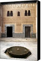 Old Wall Canvas Prints - Alhambra inner courtyard Canvas Print by Jane Rix