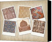 Old Wall Canvas Prints - Alhambra textures Canvas Print by Jane Rix