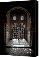 Historical Photo Canvas Prints - Alhambra window Canvas Print by Jane Rix