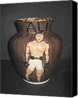 Jar Ceramics Canvas Prints - ALI-The Greatest of All Time Canvas Print by David Mack