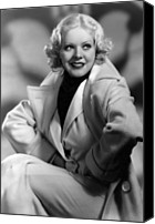 1930s Hairstyles Canvas Prints - Alice Faye, Fox Film Portrait, Ca Canvas Print by Everett