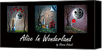Fantasy Canvas Prints - Alice In Wonderland Collection by Shawna Erback Canvas Print by Shawna Erback