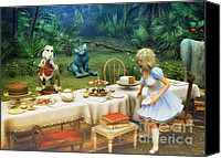 3d Graphic Canvas Prints - Alice in Wonderland Canvas Print by Jutta Maria Pusl