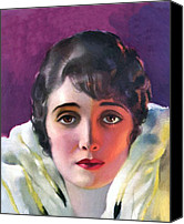 Illustrator Canvas Prints - Alice Joyce 1920 Canvas Print by Stefan Kuhn