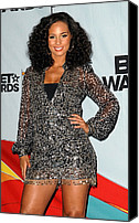 Half-length Canvas Prints - Alicia Keys In The Press Room For 2009 Canvas Print by Everett