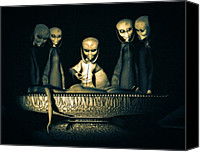 Aliens Canvas Prints - Alien Autopsy Alien Abduction Canvas Print by Bob Orsillo
