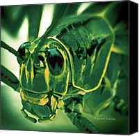 Digiart Canvas Prints - Alien Canvas Print by DigiArt Diaries by Vicky Browning