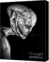 Illustration Canvas Prints - Alien Portrait  Canvas Print by Bob Orsillo