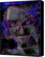 Frightening Digital Art Canvas Prints - Alien Canvas Print by Russell Pierce