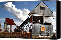 Factories Canvas Prints - Alive and Well in America . The Old Industrial Sand Plant in Berkeley California . 7D13952 Canvas Print by Wingsdomain Art and Photography