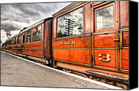 Carriage Canvas Prints - All Aboard Canvas Print by Adrian Evans