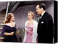 Hostess Canvas Prints - All About Eve, From Left Bette Davis Canvas Print by Everett