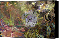 Minute Digital Art Canvas Prints - All About Time Canvas Print by East Coast Barrier Islands Betsy A Cutler