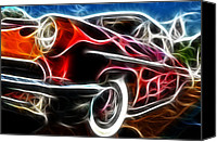 Hot Rod Car Canvas Prints - All American Hot Rod Canvas Print by Paul Ward