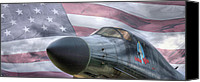 Warbird Photo Canvas Prints - All American Canvas Print by JC Findley