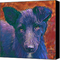 Mutt Canvas Prints - All American Mutt Canvas Print by Jane Schnetlage