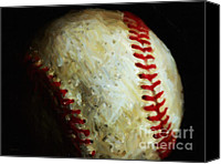 Major League Baseball Digital Art Canvas Prints - All American Pastime - Baseball - Painterly Canvas Print by Wingsdomain Art and Photography