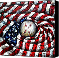 All-star Painting Canvas Prints - All American Canvas Print by Shana Rowe