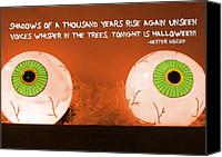 Eye Ball Canvas Prints - ALL HALLOWS EVE quote Canvas Print by JAMART Photography
