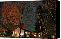 Startrail Canvas Prints - All Night Star Trails Canvas Print by Larry Landolfi