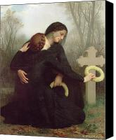 Loss Painting Canvas Prints - All Saints Day Canvas Print by William Adolphe Bouguereau